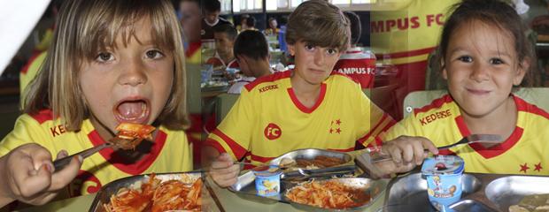 fútbol carrasco campus alimentación entrenamiento verano