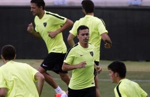 Fabio Espinho durante un entrenamiento - Málaga CF