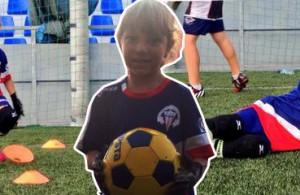 fútbol carrasco málaga palo portera bebe