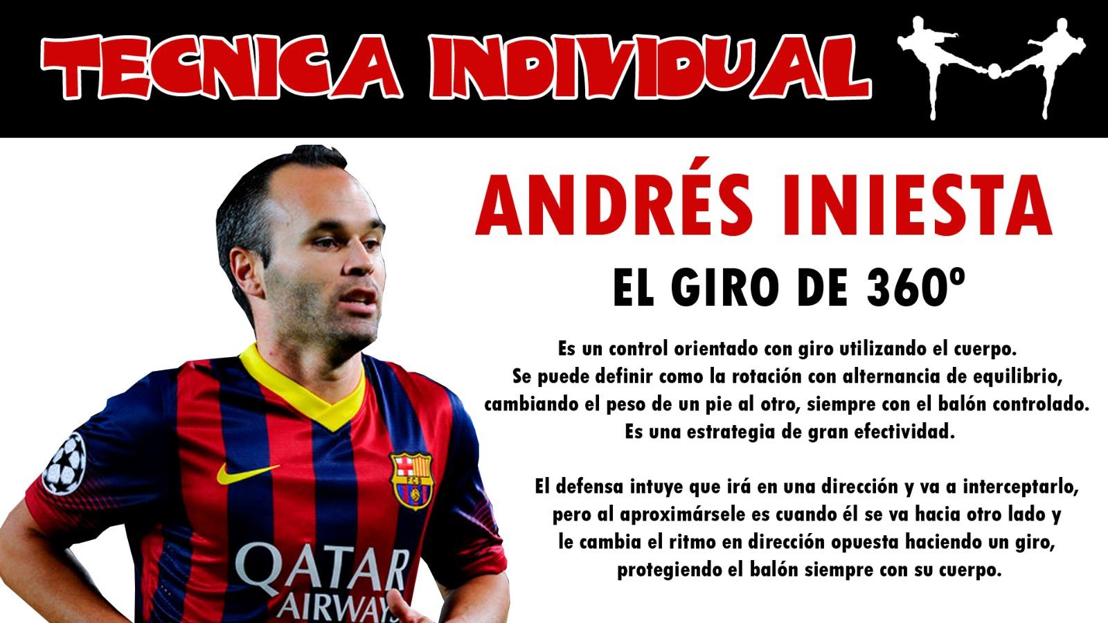 futbolcarrasco andres iniesta analisis tecnico fc barcelona
