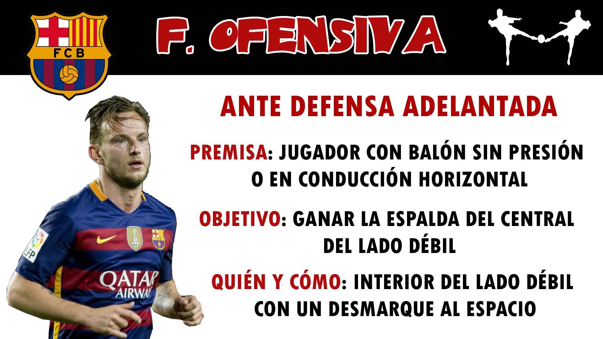 futbolcarrasco luis enrique barcelona analisis táctico interior desmarque profundidad