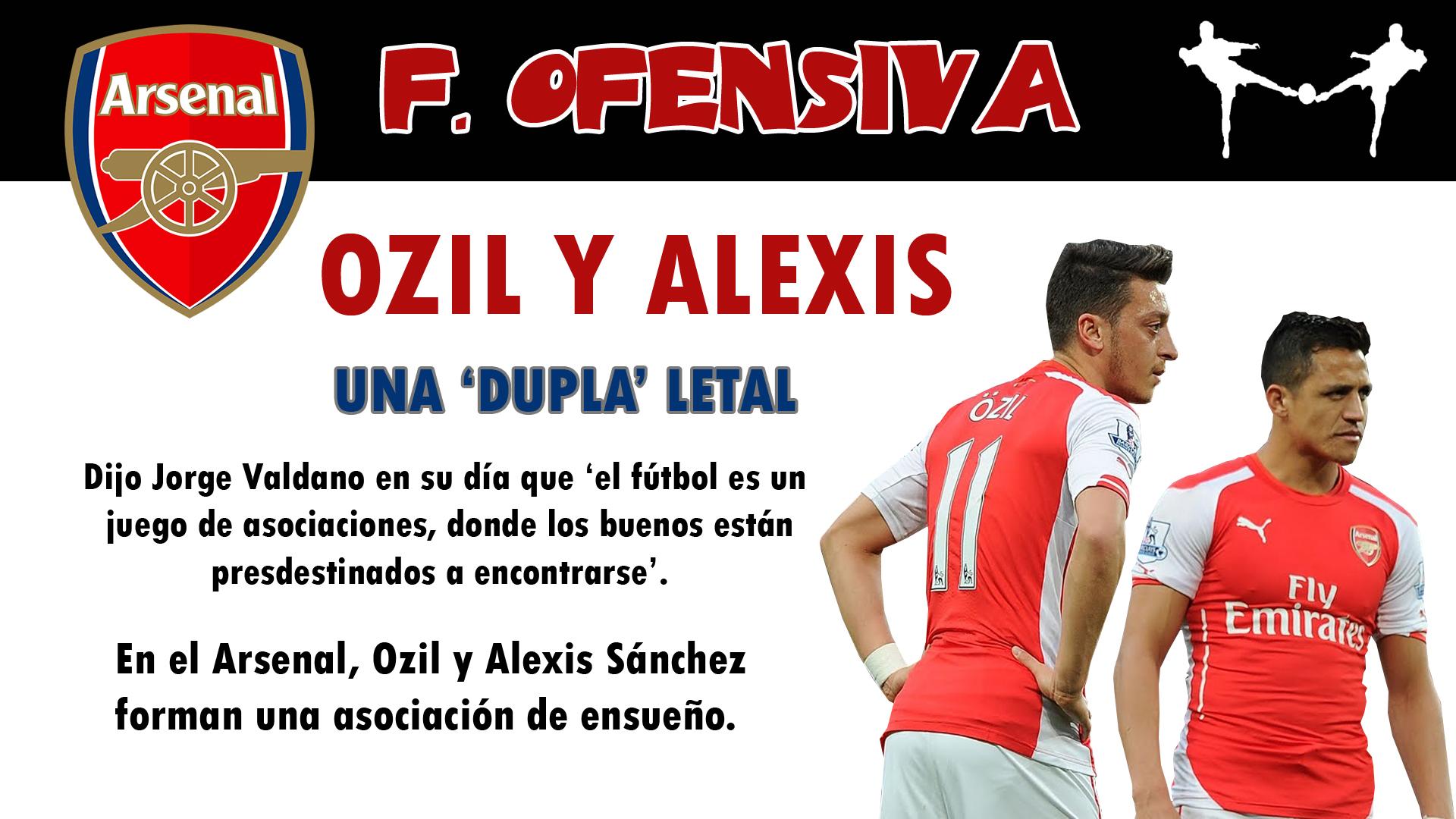 futbolcarrasco analisis tactico arsenal fc wenger ozil alexis