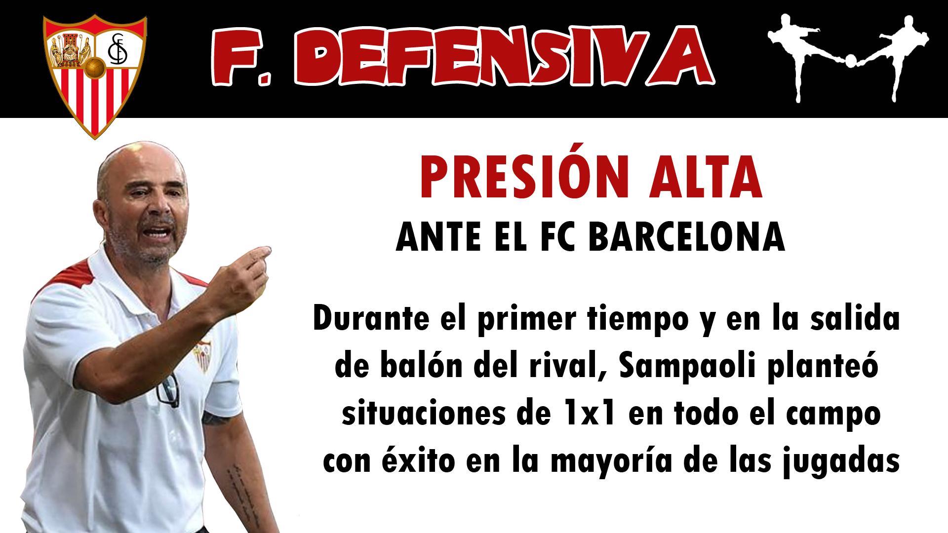 futbolcarrasco sevilla fc sampaoli presión alta análisis tactico fc barcelona