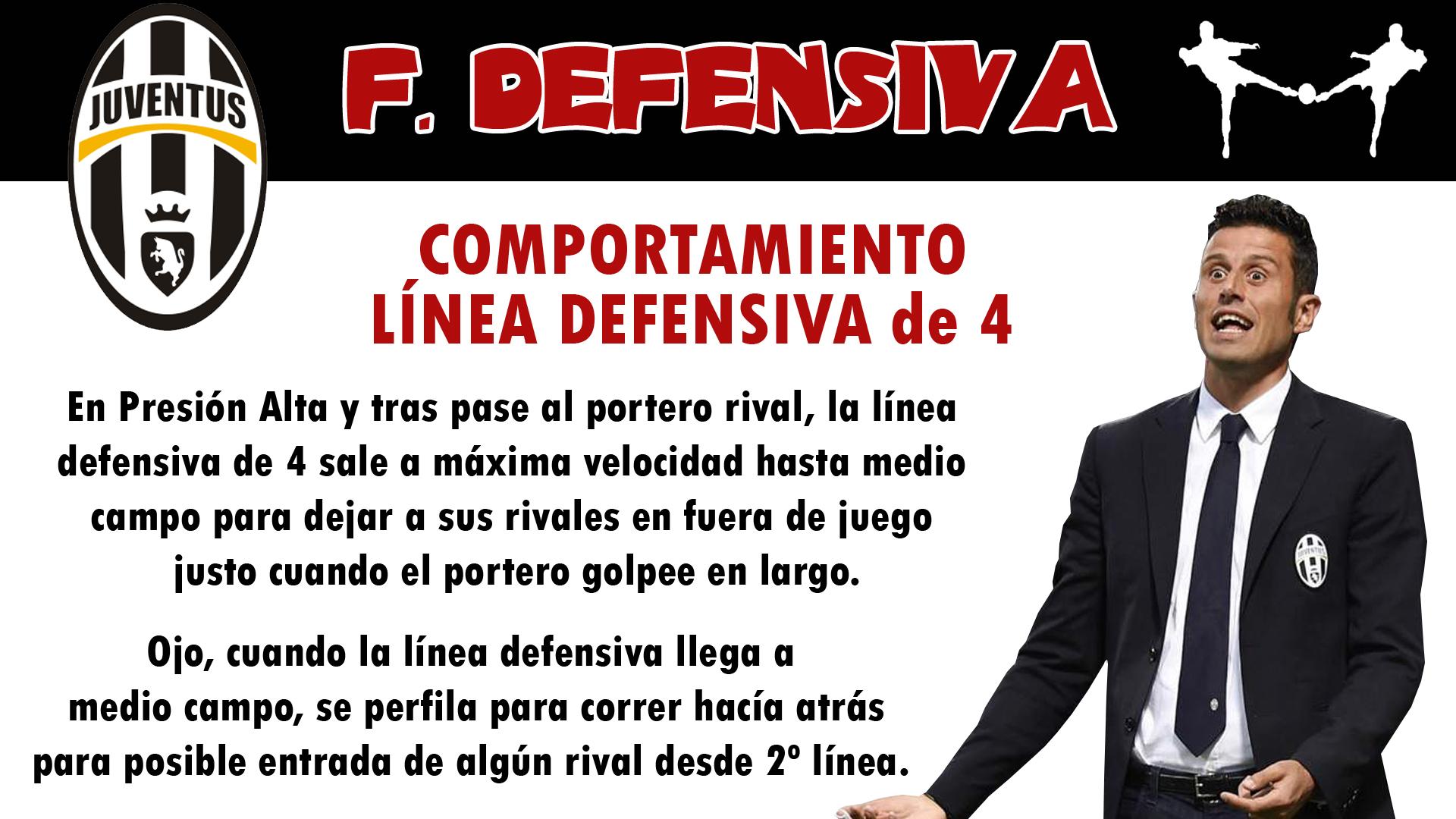 futbolcarrasco juventus fabio grosso comportamiento linea defensiva analisis tactico