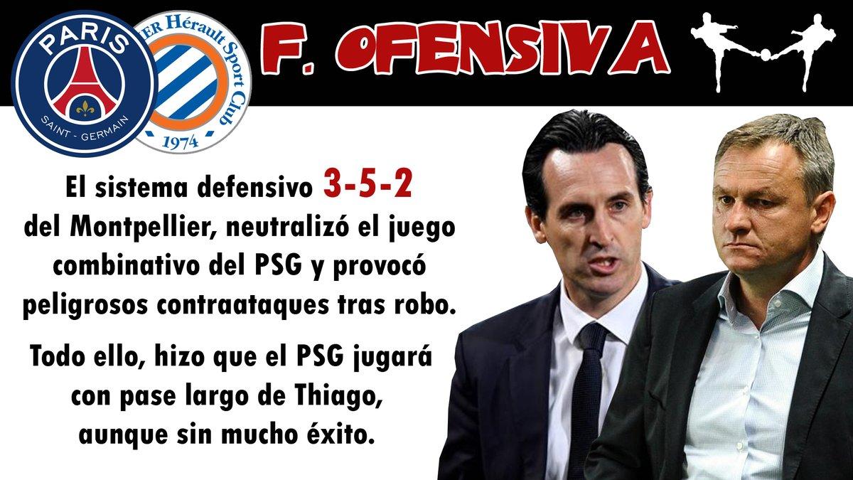 monpeñlier futbolcarrasco análisis tactico psg emery