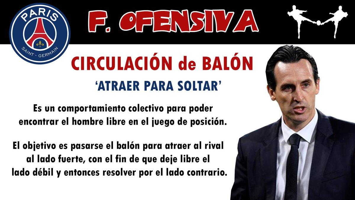 futbolcarrasco emery psg ligue francia circulacion balon tactica